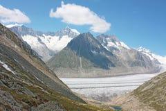 Grosser Aletschgletcher (glacier) Royalty Free Stock Image