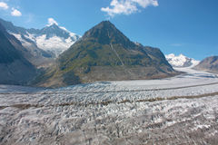 Grosser Aletschgletcher (glacier) Stock Images