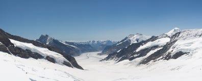 Grosser Aletschgletcher in Switzerland Stock Images