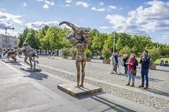 Grosses dames dans Lustgarten Photos libres de droits