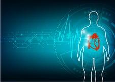 Grosses personnes avec le fond d'abrégé sur maladie cardiaque Images stock