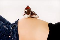 Grossesse à neuf mois Photos libres de droits