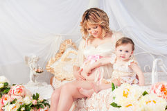 Grossesse, enfants, famille - la bénédiction de Dieu Photos stock