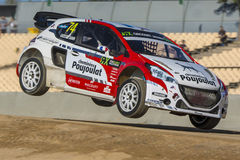 Grosset-JANIN Peugeot 208 Barcelona FIA World Royalty-vrije Stock Foto