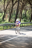 Grosseto, Italy - May 09, 2014: The disabled cyclist with the bike during the sporting event Royalty Free Stock Images