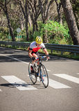 Grosseto, Italy - May 09, 2014: The disabled cyclist with the bike during the sporting event Royalty Free Stock Photography
