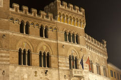 Grosseto (Toscânia), palácio antigo Foto de Stock Royalty Free
