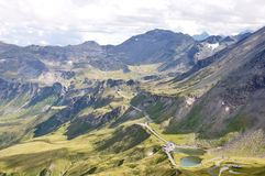 Grossglochner. Top of Austria. This faimous alpine road leads you right into the heart of the Hohe Tauern National Park Stock Images