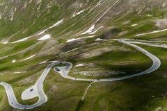 Grossglocker alpin väg Fotografering för Bildbyråer