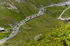 Grossglocker alpin väg - Carinthian sida Fotografering för Bildbyråer