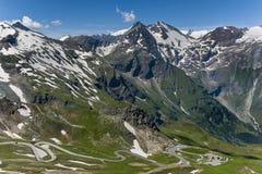 Grossglocker alpin väg - Salzburg sida Royaltyfria Bilder