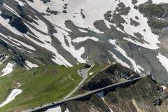 Grossglocker alpin väg - Salzburg sida Royaltyfri Bild