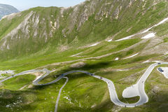 Grossglocker alpine road. Serpentines on the Grossglockner alpine road / Hochalpenstrasse Royalty Free Stock Images