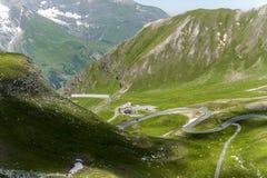 Grossglocker wysokogórska droga Obraz Stock