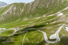 Grossglocker wysokogórska droga Obrazy Royalty Free