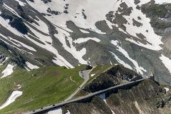 Grossglocker wysokogórska droga - Salzburg strona Obraz Royalty Free