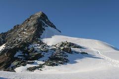 Grossglockner. The Alps - Grossglockner, highest mountain in Austria stock images