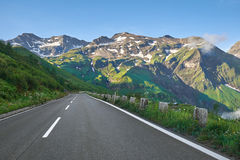 Grossglockner - alta strada alpina Immagine Stock