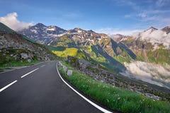 Grossglockner Austria - strada della montagna Fotografia Stock