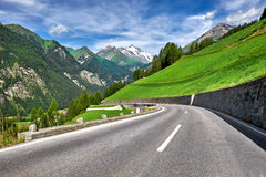 Grossglockner Austria - strada della montagna Fotografie Stock Libere da Diritti