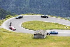 Grossglockner, Austrian, 23 Juny 2015: Alpine road, Eastern Alp Stock Photography