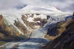 Grossglockner con il ghiacciaio di Pasterze, alpi, Austria Fotografie Stock Libere da Diritti