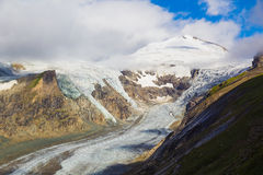 Grossglockner con il ghiacciaio di Pasterze, alpi, Austria Immagini Stock Libere da Diritti