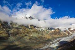 Grossglockner con il ghiacciaio di Pasterze, alpi, Austria Immagini Stock