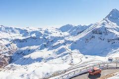 Grossglockner droga przed zima czasem Zdjęcie Royalty Free