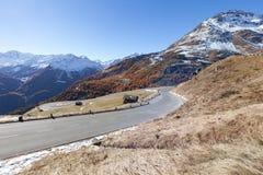 Grossglockner droga przed zima czasem Fotografia Royalty Free
