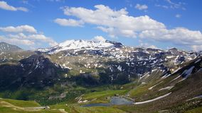 Grossglockner Droga Wysoka Alpejska. Austria Obrazy Stock