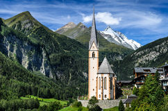 Grossglockner em Áustria, cumes europeus Imagens de Stock Royalty Free