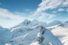 Grossglockner em Áustria, vista de Kitzsteinhorn, Kaprun Fotografia de Stock Royalty Free
