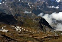 Grossglockner a estrada alpina Imagens de Stock Royalty Free