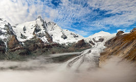 Grossglockner - foto panoramica di alba Fotografia Stock Libera da Diritti