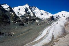 Grossglockner glacier. The Grossglockner glacier in Alps, Austria Stock Image