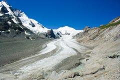 Grossglockner glacier. The Grossglockner glacier in Alps, Austria Royalty Free Stock Photos