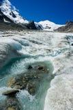 Grossglockner glacier. The Grossglockner glacier in Alps, Austria Royalty Free Stock Photo