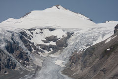 Grossglockner-Gletscher, der höchste Berg von Österreich Lizenzfreies Stockbild