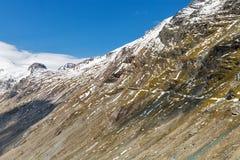 Grossglockner hög alpin väg i Österrike Royaltyfria Foton