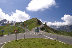 Grossglockner High Alpine Road. The Grossglockner High Alpine Road is a panoramic road in Austria, in the state of Salzburg. The most famous alpine road leads Royalty Free Stock Images