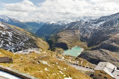 Grossglockner High Alpine Road in Austria. Grossglockner High Alpine Road in Austrian Alps. Mountains landscape on Kaiser Franz Josef glacier Stock Images