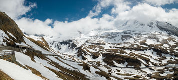 Grossglockner High-Alpine Road in may Stock Image