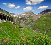 Grossglockner Hochalpenstrasse. The most famous mountain roads in the Austrian Alps Stock Photography