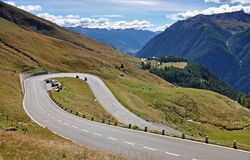 Grossglockner Hochalpenstrasse in the autumn of Hohe Tauern. royalty free stock photography