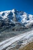 Grossglockner, il più alta montagna in Austria con il ghiacciaio di Pasterze Fotografie Stock Libere da Diritti