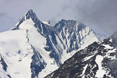 Grossglockner, il più alta montagna dell'Austria Fotografie Stock Libere da Diritti