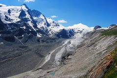 Grossglockner, Johannisberg and Hohe Riffl peaks in Austria. Royalty Free Stock Photo