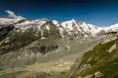Grossglockner. Johannisberg summit,Grossglockner and Pasterze glacier in the Hohe Tauern National Park, Austria Royalty Free Stock Images