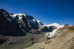 Grossglockner, mountain in the Alps of Austria. royalty free stock image
